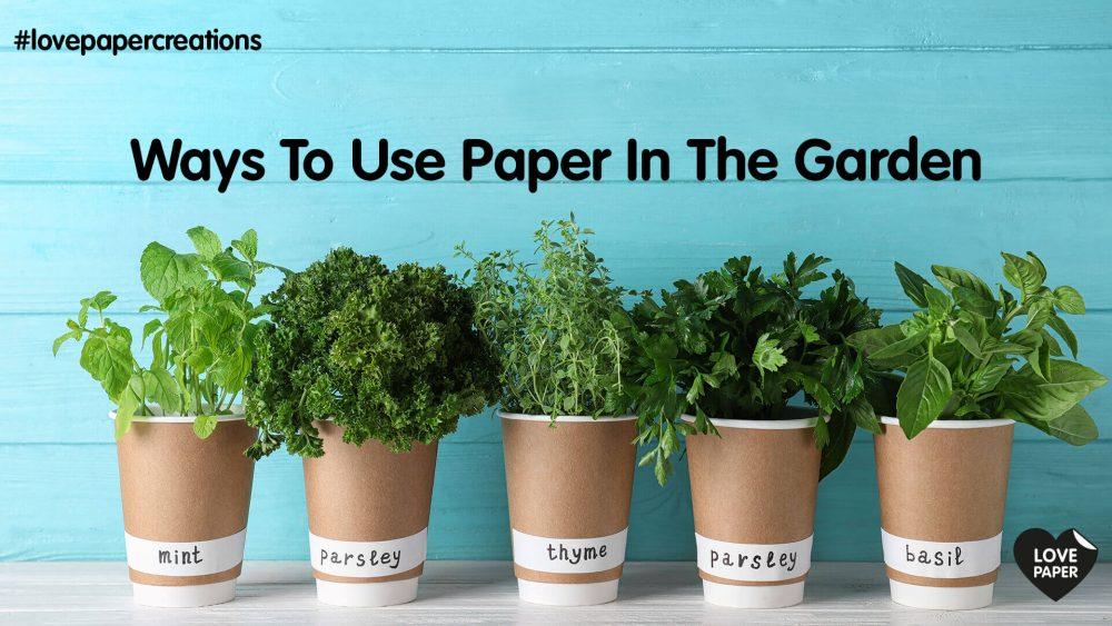 So kann man Papier und Pappe im Garten wiederverwenden